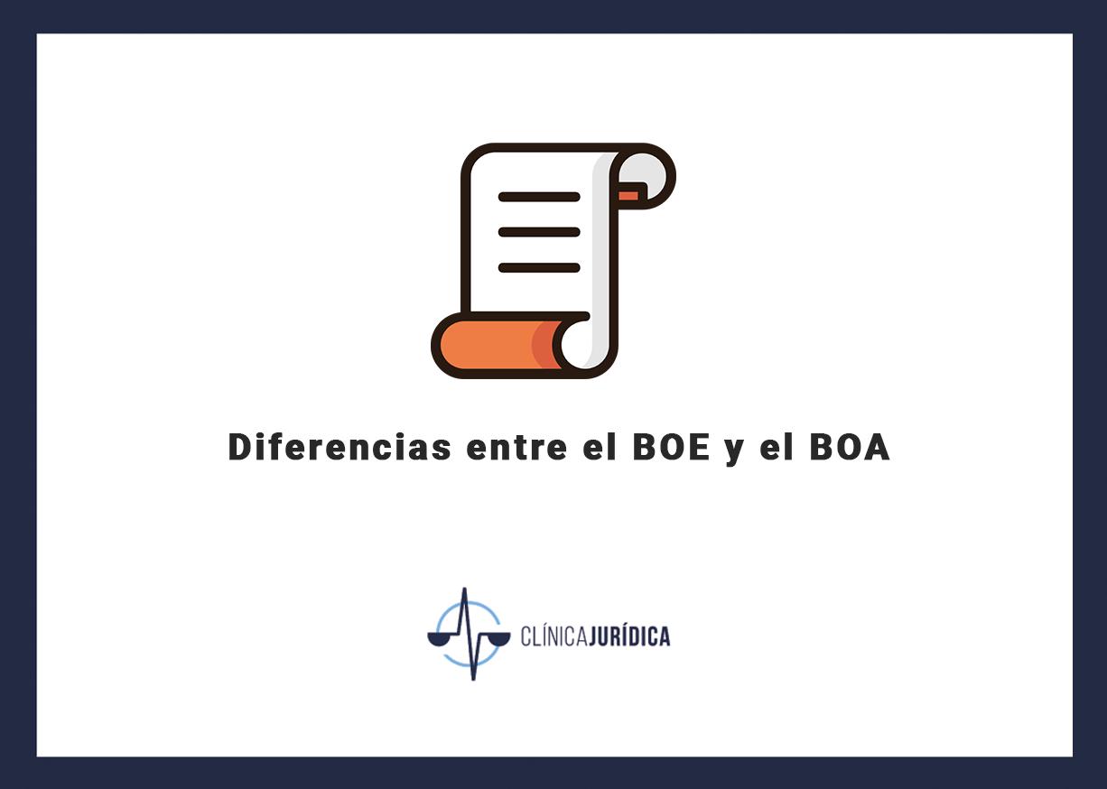 Diferencias entre el BOE y el BOA
