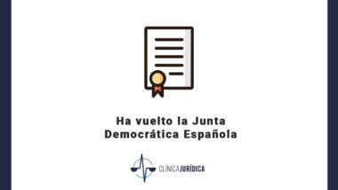 Ha vuelto la Junta Democrática Española