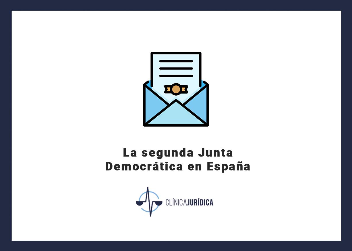 La segunda Junta Democrática en España