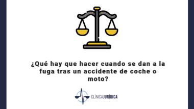 Qué hay que hacer cuando se dan a la fuga tras un accidente de coche o moto